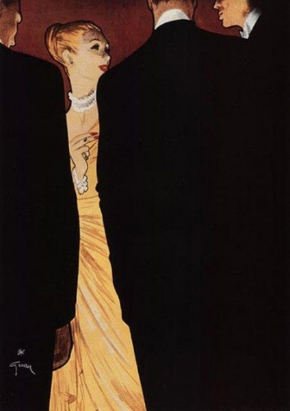 rene gruau 10 424x600 FABULOUS FASHION ILLUSTRATORS RENE GRUAU