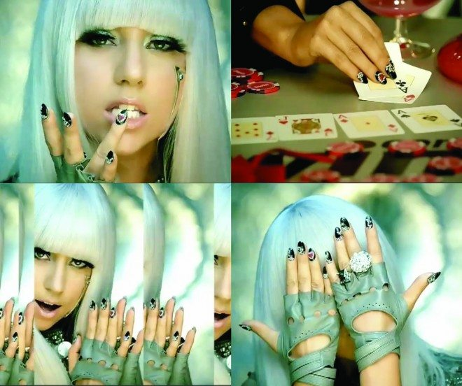 Lady Gaga Poker Face Nails 660x552 Get Naild....