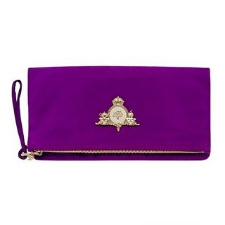 Mulberry Margaret Clutch Plum Suede The Margaret Mulberry Bag