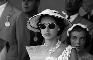Princess Margaret at the races The Margaret Mulberry Bag