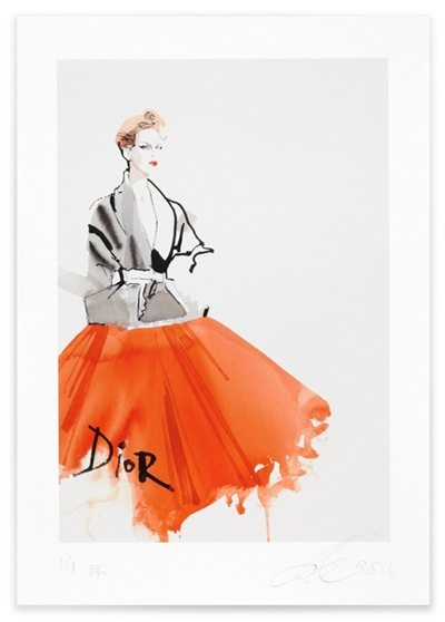 David Downton Dior Couture Spring Summer 2011 David Downton : Fabulous Fashion Illustrations