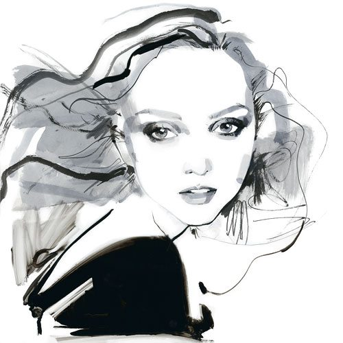 David Downton Lily Cole David Downton : Fabulous Fashion Illustrations