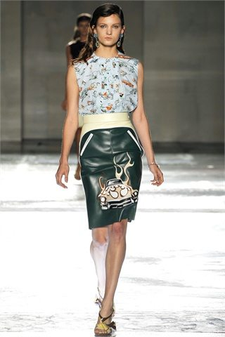 prada spring summer 2012 2 Prada: D&G: Etro:Versace: Antonio Marrass: Milan Fashion Week