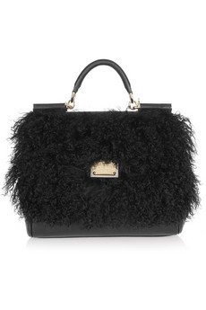 Dolce and Gabbanna shearling bag