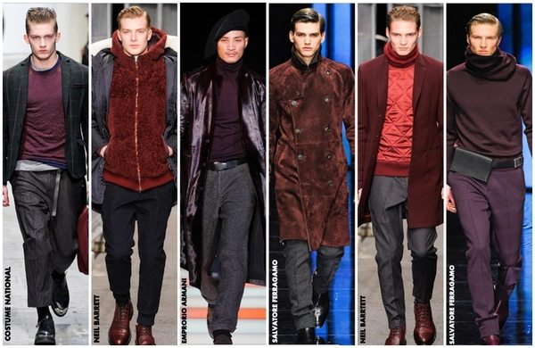 wine tones catwalk Mens Fashion The Summer Wine