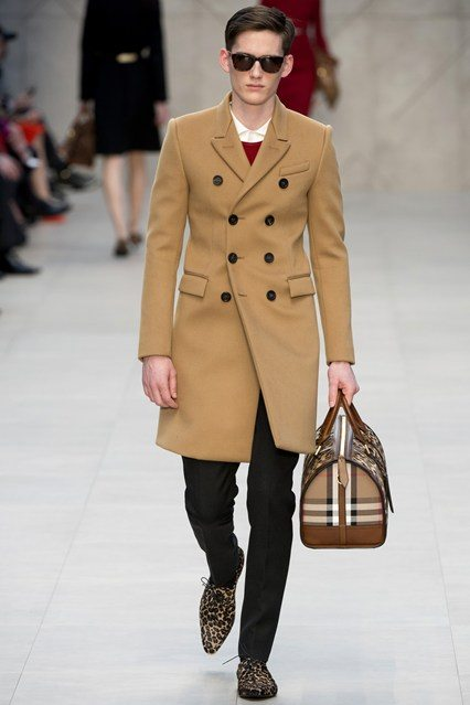The overcoat gets a double breasted remake. This would also be nice as a shorter navy pea coat which doubtless they will do for winter